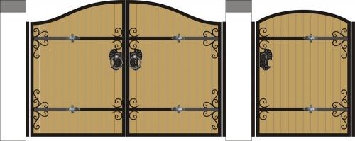 Ворота и калитки №8