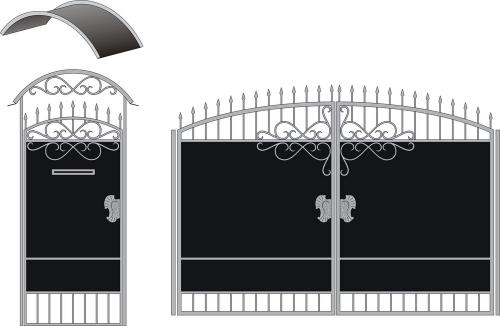 Ворота и калитки №9