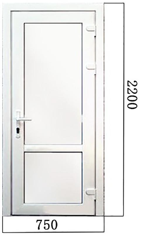 Дверь ПВХ №3